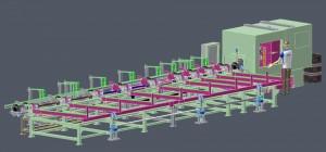 Сортировочная система с полностью автоматической острильной фрезерной машиной